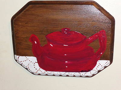 Teapot Painting - Our Mothers Teapot by Carol  Lynn Bronte