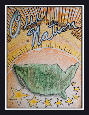 Drawing - Our Nation by Jason Girard