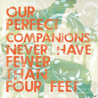 Our Perfect Companion Art Print by Debbie DeWitt
