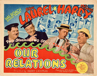 Our Relations, Us Lobbycard, Oliver Art Print by Everett