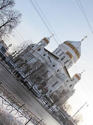 Photograph - Our Savior's Cathedral In Moscow by Anna Yurasovsky