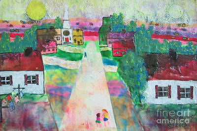 Painting - Our Street by Lew Hagood