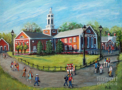 Painting - Our Time At Bentley University by Rita Brown