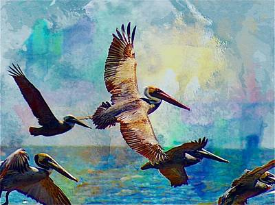 Brian Lukas Mixed Media - Our Wetlands - Pelican Island by Brian  Lukas