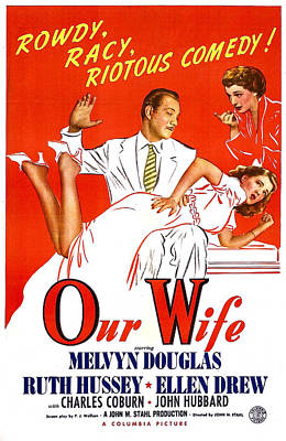 Our Wife, Us Poster, Melvyn Douglas Print by Everett