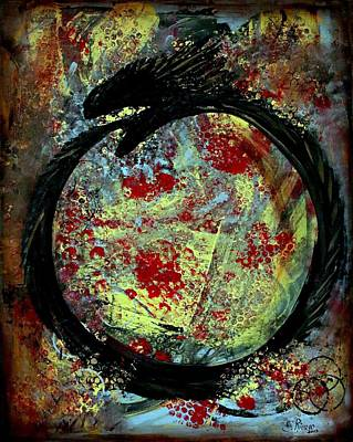 Cycles Painting - Ouroboros  by Esther Rivero