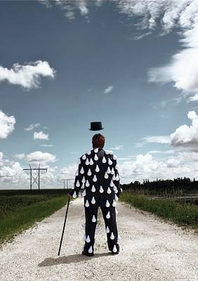 Magritte Photograph - Out For A Light Walk by Chrystyne Novack