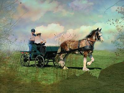 Out For A Trot Art Print by Shirley Sirois