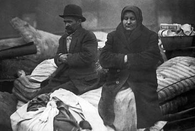 Cold Temperature Photograph - Out In The Cold by Underwood Archives