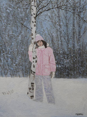 Painting - Out In The Snow by Masami Iida