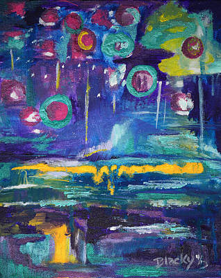 Intuitive Painting - Out In The Universe by Donna Blackhall