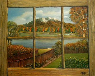 Painting - Out My Window-autumn Day by Sheri Keith