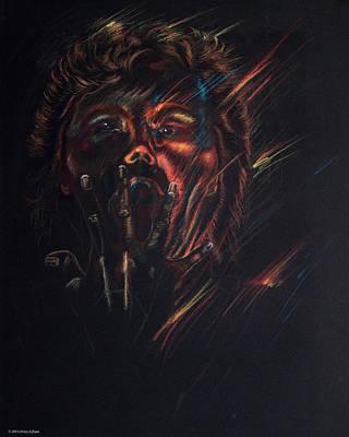 Out Of Blackness Art Print by Christy Lifosjoe