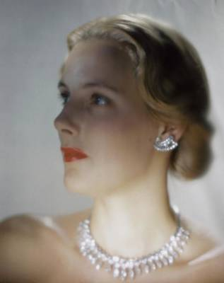 Photograph - Out Of Focus Image Of A Model Wearing A Diamond by Erwin Blumenfeld