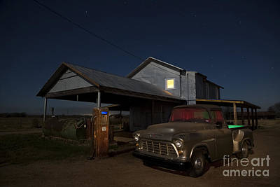 Rusty Pickup Truck Photograph - Out Of Gas by Keith Kapple