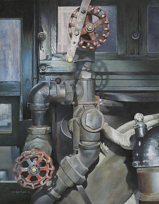 Boiler Painting - Out Of Steam by Carol  Harrison