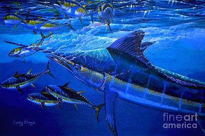 Striped Marlin Painting - Out Of The Blue by Carey Chen