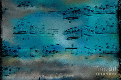 Art Print featuring the digital art Out Of The Blue by Lon Chaffin