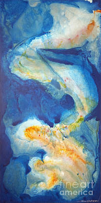 Macrocosm Painting - Out Of The Blue by Todd Karleskein