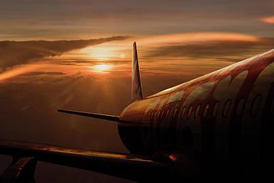Flying Photograph - Out Of The Flight by Ekkachai Khemkum