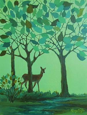 Out Of The Forest Art Print by Mary Wolf