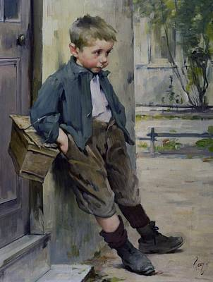 Lonesome Painting - Out Of The Game by Henri Jules Jean Geoffroy