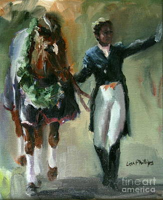 Horse Painting - Out Of The Harness by Lisa Phillips Owens