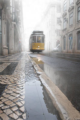 Tram Photograph - Out Of The Haze by Jorge Maia