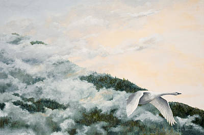 Soaring Painting - Out Of The Mist by Dorothea Hyde