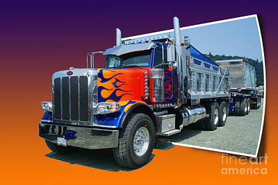 Out Of The Photo Peterbilt Art Print by Randy Harris