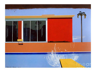 Venice Beach Painting - Out Of The Pool by Charlie Spear