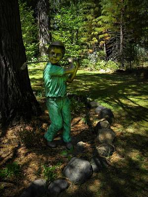Golf Statues Photograph - Out Of The Rough by Frank Wilson