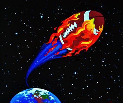 Sports Murals Painting - Flaming Balls  #1 by Thomas Kolendra