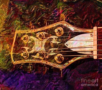 Out Of Tune Digital Guitar Art By Steven Langston Art Print by Steven Lebron Langston