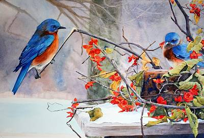 Bittersweet Painting - Out On A Limb by Brenda Beck Fisher