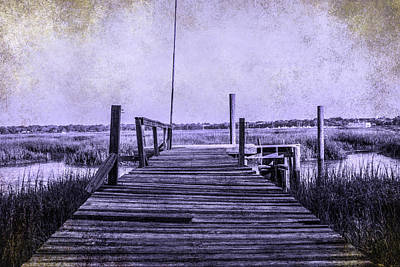 Out On The Pier  Art Print by Steven  Taylor