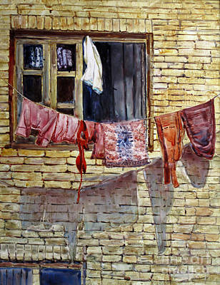 Painting - Out The Window by Louise Peardon
