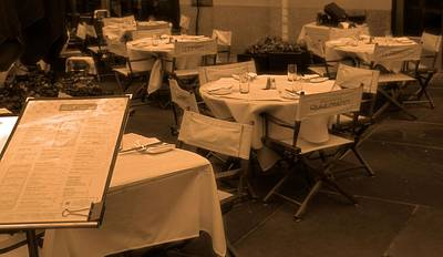 Table Wine Photograph - Out To Eat by Dan Sproul