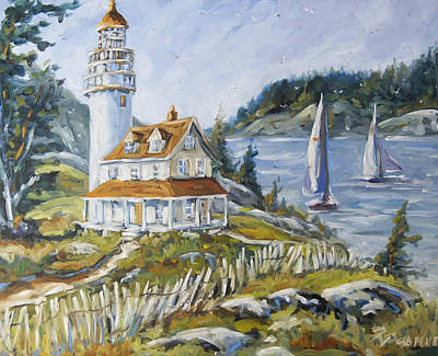 Quebec Painting - Out To Sea By Prankearts by Richard T Pranke