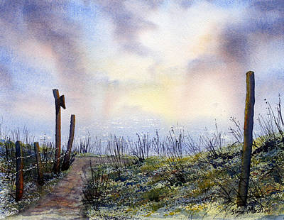 Painting - Out To Sea.. Morning Mist by Glenn Marshall
