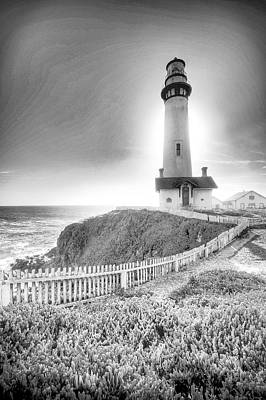 Photograph -  Pigeon Point Lighthouse Ca by Robert Roland