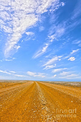 Gravel Road Photograph - Outback Australia by Colin and Linda McKie