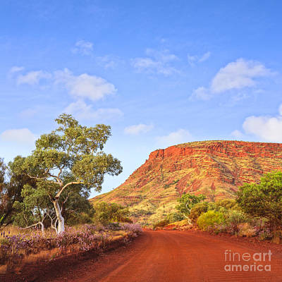 Dirt Roads Photograph - Outback Mount Nameless Western Australia by Colin and Linda McKie