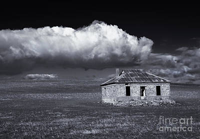 Outback Ruin Art Print by Mike  Dawson
