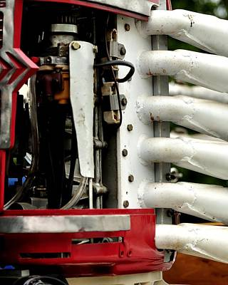 Easter Egg Hunt Rights Managed Images - Outboard Racing Engine Details 24285 Royalty-Free Image by Jerry Sodorff