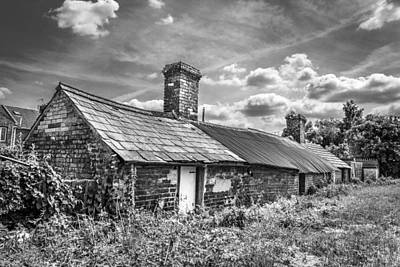 Art Print featuring the photograph Outbuildings. by Gary Gillette
