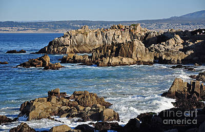 Outcroppings At Monterey Bay Art Print