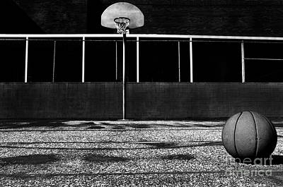 Outdoor Basketball Court Art Print