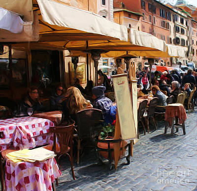 Photograph - Outdoor Cafe La Roma by Tom Griffithe