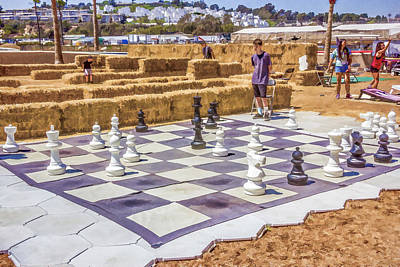 Digital Art - Outdoor Chess by Photographic Art by Russel Ray Photos